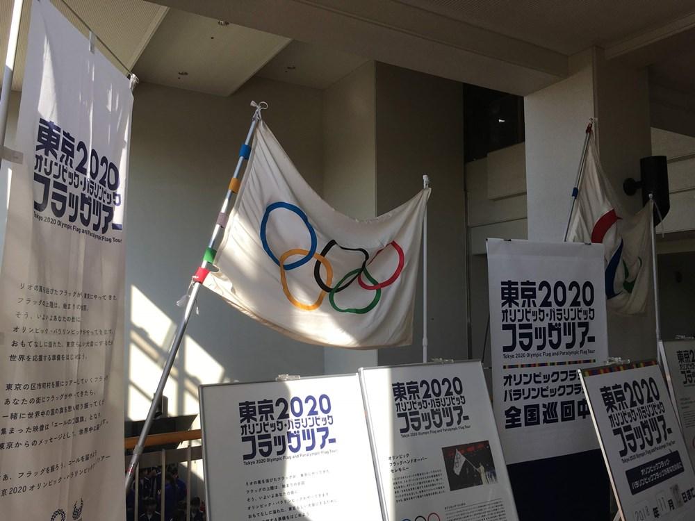 「五輪旗」は今、日本各地の自治体を巡回している